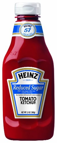 Heinz Tomato Ketchup, Reduced Sugar, 14 Ounce (Pack of 6)
