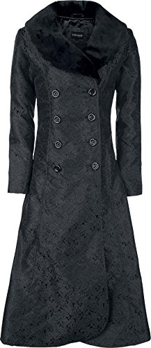 Gothicana by EMP Dark Blood Brocade Coat Cappotto nero XS