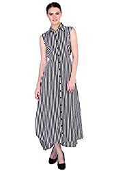 XOXO Frill Checkered Maxi Dress