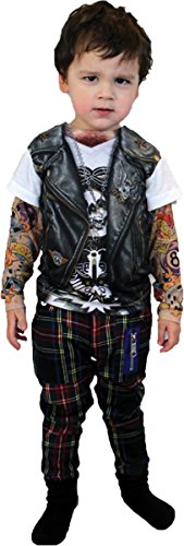 Morris Costumes TATTOO LONG SLEEVE YOUTH, LG