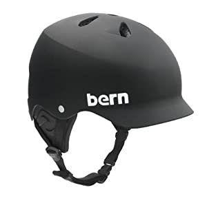 Bern Watts Matte Water Helmet, Black, Small