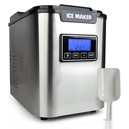 Nutrichef Picem62 Countertop Digital Ice Maker, Stainless Steel ...