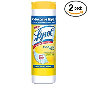 Amazon - 2 x 24-Count Lysol Disinfecting Wipes Extra Large - $3.60
