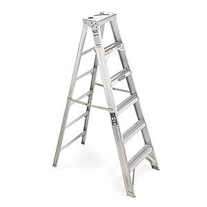 Stepladder, Aluminum, 6 ft. H, 375 lb. Capacity