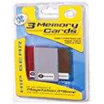 PS1 Memory Card 3 Pack In Jewel Case