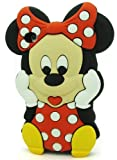 HELPYOU Red Iphone 5C Disney 3D Cartoon Minnie Mouse Silicone Soft Rubber Case Skin Protective Cover for Apple Iphone 5C