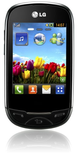 LG T500 ego Handy (7,1 cm (2,8 Zoll) Display, Touchscreen, 2 Megapixel Kamera) schwarz