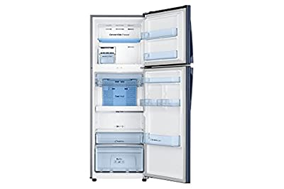 Samsung RT37K3993UZ/HL Frost Free Freezer-on-Top Free-Standing Refrigerator (340 Ltrs, 3 Star Rating, Tender Lily...