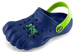 Kids Baby Little Kids Toddler Five Finger Clogs Summer Shoes (Toddler 6, Navy Blue)