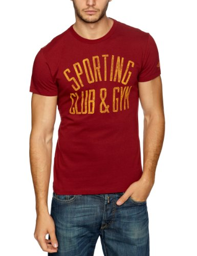 Replay Club and Gym Printed Men's T-Shirt Bordeaux XXX-Large