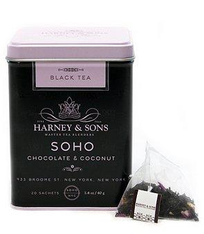 Harney & Sons SoHo Chocolate Coconut Tea - 20 Count Sachet Tin