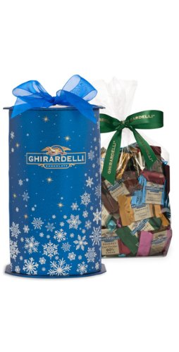 Ghirardelli Winter Wishes Gift Cylinder Gift