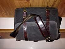 ONA The Brixton Camera and Laptop Messenger Bag,Smoke