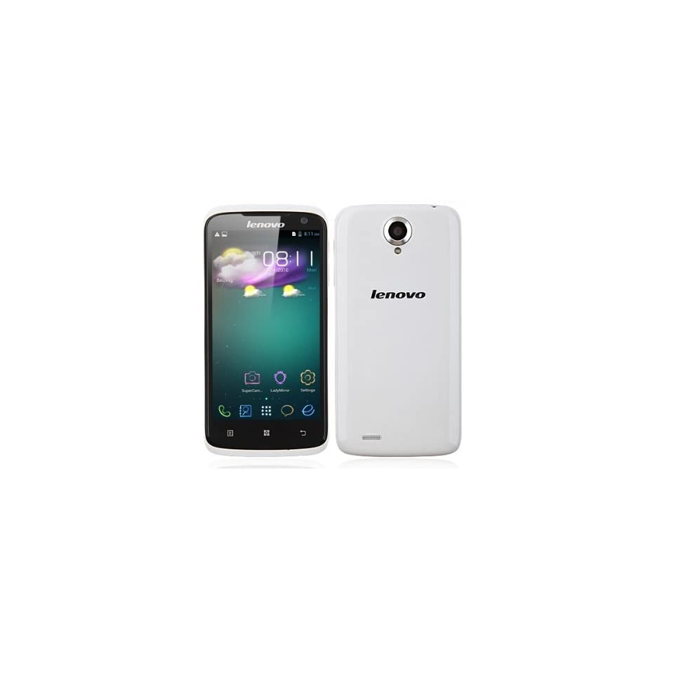 Lenovo S820 HD4.7 Inch Unlocked Android Smartphone   (1280X720) MTK6589 Quad Core 1.2GHz 1GB RAM Android 4.2 2MP/13MP AF LED Flash IPS GPS TF White(Rooted+Google Play)