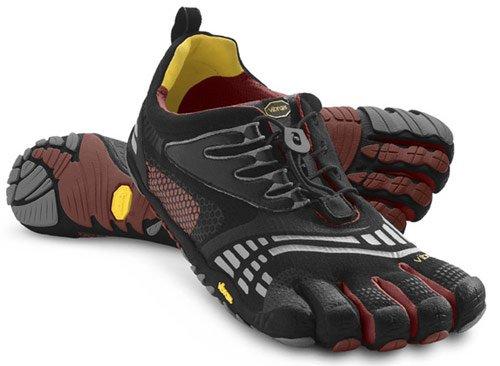 KomodoSport LS Shoe - Men's Black/Burgundy 42 by Vibram FiveFingers