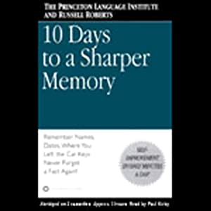 10 Days to a Sharper Memory Audiobook