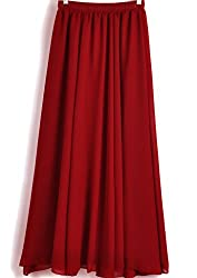 Adorn Fashion Women's Casual Wear Maroon Color Long Skirt With Floor-Length