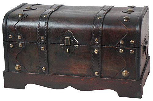 Vintiquewise(TM) Small Pirate Style Wooden Treasure Chest (Chest Wood compare prices)