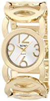 XOXO Womens XO5211 Silver Dial Gold-tone Open Link Bracelet Watch