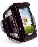 Tuff-Luv Brassard Sport Ultimo pour lecteur MP3 large/ Smartphone pour (iPhone 4, 4S, 5 / 5s, Galaxy S2, S3, S4, HTC One, Blackberry Z10, Nexus 4, Nokia Lumia 920 900 820 800 720 700 620 etc) - Noir