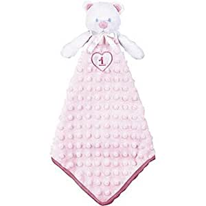 15 Inch Adorable Pink Girl 1st Birthday Gift Toy Cute Comfort Teddy Bear Blankie
