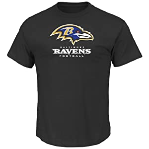 Baltimore Ravens Majestic NFL Critical Victory VIII Men's T-Shirt - Black from Majestic