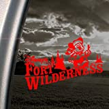 FORT WILDERNESS Red Decal DISNEY MICKEY Window Red Sticker