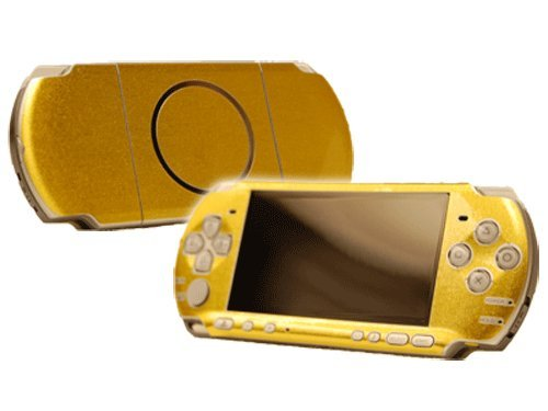Sony Play Station Portable 3000 (Psp 3000) Skin New Brushed Gold System Skins Faceplate Decal Mod