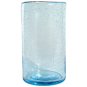 Aqua Bubble Glass Tumbler