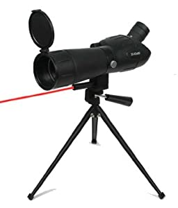 Ultimate Arms Gear Tactical Hunting 20-60x60 Sniper Spotting Scope with Red Dot Laser Sight, Tripod, & Case