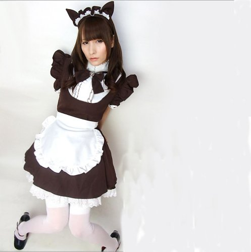 New Japanese Coffee Shop Waitress Cosplay Lolita French Maid Costume