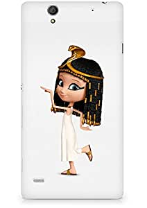 Amez designer printed 3d premium high quality back case cover for Sony Xperia C4 (Cute Snake Girl)