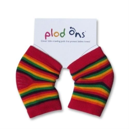 Plod Ons Baby Crawling Knee Protectors, Rainbow Stripes