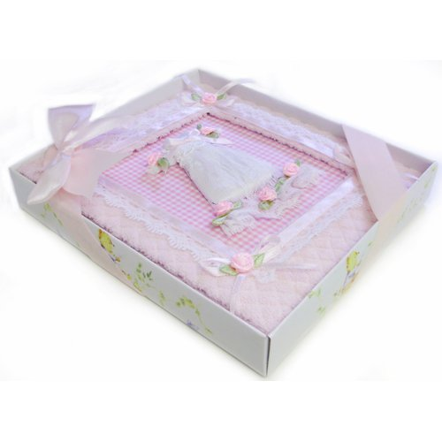 Gift Baby Album Featuring A Pink Lace Dress With Roses -Affordable Gift for your Little One! Item #IA4L-AB-BA18 - 1