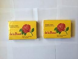 De La Rosa Mazapan, Marzipan Peanut Candy, 2 Small Boxes, 24 Pieces Total, 2 Cajas, 24 Dulces Total