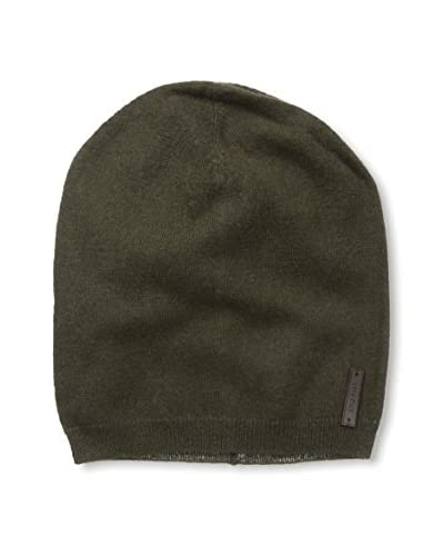 Cole Haan Men's Lightweight Jersey Elongated Beanie, Solid Military, One Size
