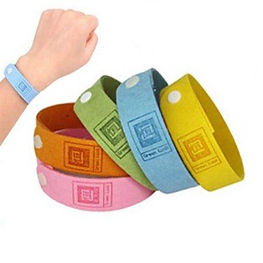 Zcl Outdoor Phytoextraction Mosquito Repeller Anti-Mosquito Wristband (Assorted Colors) , Yellow
