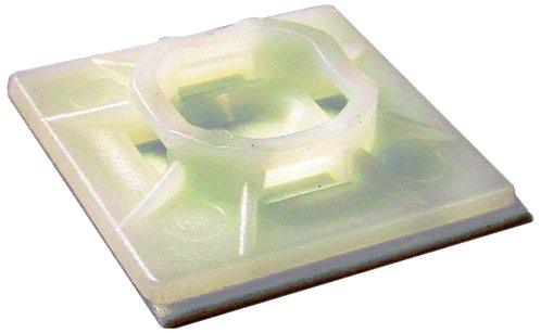 L.H. Dottie Dt100S Cable Tie Mounting Base, 0.99-Inch Width By 0.2-Inch Height, Natural, 100-Pack
