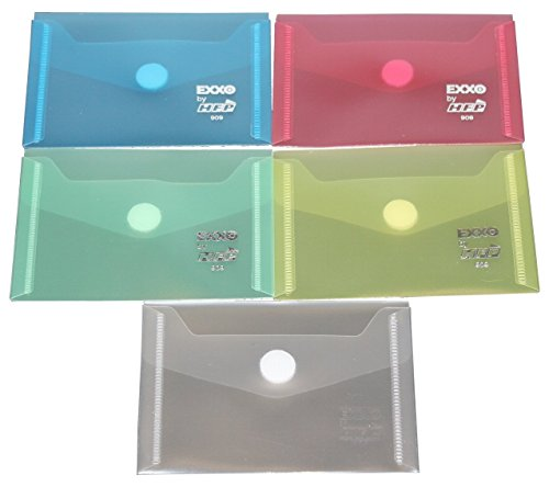 EXXO by HFP 90900 Dokumententasche mit Klettverschluss A7 quer, 10 Stück, farbig sortiert