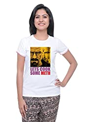 LetsFlaunt Lets Cook Meth Heisenberg T-shirt T-shirt Girls White Dry-Fit-X-Small Nw