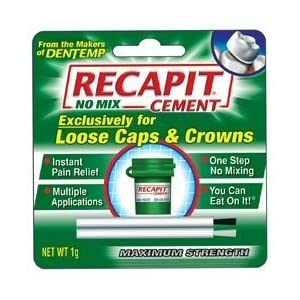 Recapit No Mix Cement, Maximum Strength, 1 g.