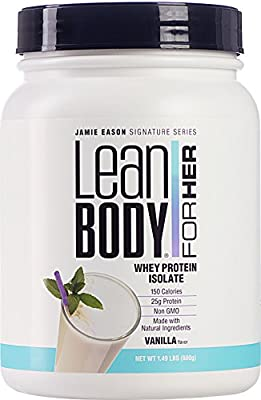 Labrada Nutrition Jamie Eason Lean Body for Her Whey Isolate Protein Powder, Natural Vanilla, 25 gram, 24 Ounce