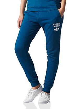 adidas Pantalón Regular Cuffed (Azul)