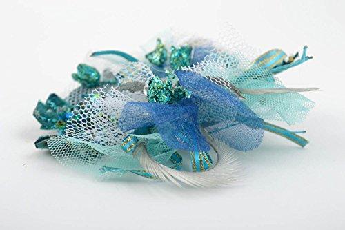 Boutonnière mariage faite main Accessoire mariage tons bleus Cadeau marié