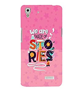 PrintVisa Quotes & Messages Life Colorful 3D Hard Polycarbonate Designer Back Case Cover for Oppo R7