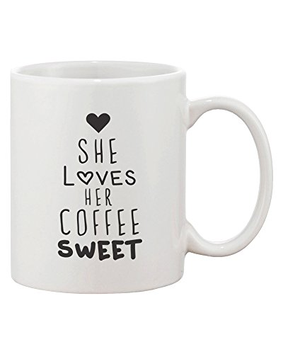 Black Coffee Matching Couple Mugs - Perfect Wedding, Engagement, Anniversary, and Valentines Day Gift for Newlyweds