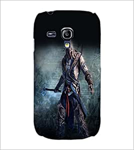 PrintDhaba Warrior D-2253 Back Case Cover for SAMSUNG GALAXY S3 MINI (Multi-Coloured)