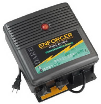 Dare Products De 2400 Electric Fence Charger, 600-Acre, Low Impedance, Plug-In, 110-Volt - Quantity 2