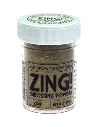 Zing metallic embossing powder 1 ounce gold arts for American crafts zap embossing heat gun
