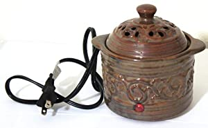 Aromatherapy Accessory Electric Simmering Pot with AC Power Cord (EARTH Color)